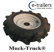 LEFT WHEEL & TYRE FOR Muck-Truck 400x10 POWER-BARROWS- MOTORISED WHEEL BARROW